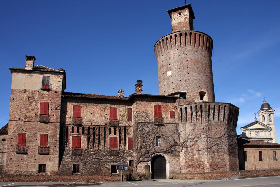 Een soort kasteel bij Sartirana Lomellina (Foto: WikiCommons)