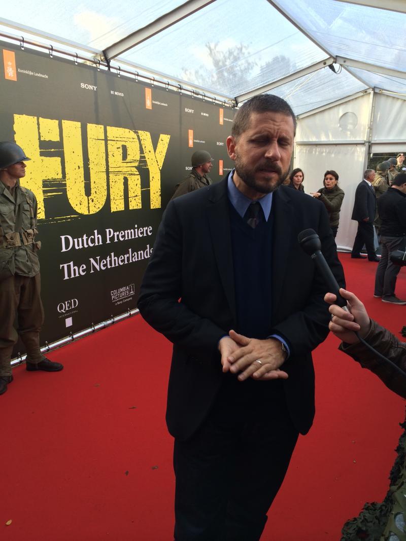 David Ayer tijdens de Nederlandse première van Fury (Foto: Robbert Willegers)