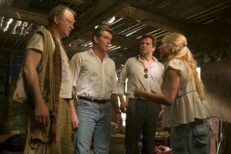 Mamma Mia: Colin Firth, Stellan Skarsgard, Pierce Brosnan en Amanda Seyfried