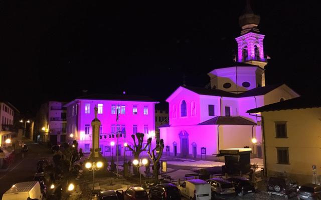 De kerk in Rovetta is roze (Foto: Panoramio)