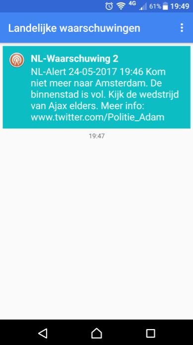 NL-Alert: KOM NIET NAAR AMSTERDAM!  (Foto: YokiKater)