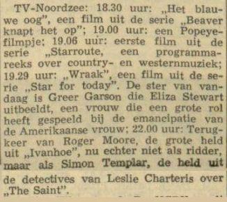Uit de Leeuwarder Courant van 2 september 1964