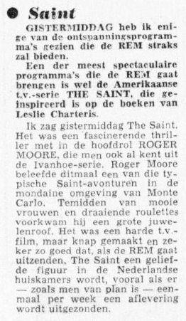 Uit de Telegraaf van 23 juni 1964