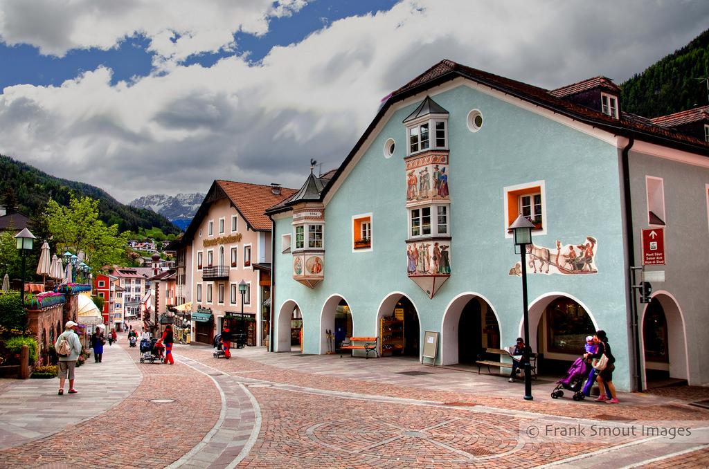 Het pittoreske centrum van Ortisei/St.Ulrich (Foto: Panoramio)