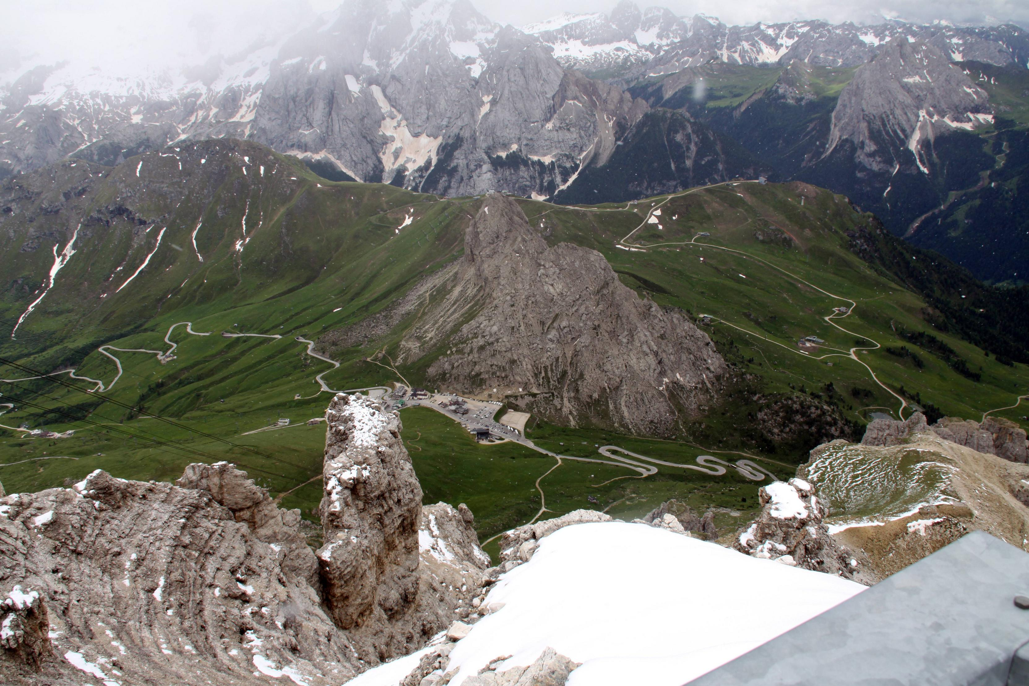 Prima uitzicht vanaf de Pordoi (Foto: Google Maps)