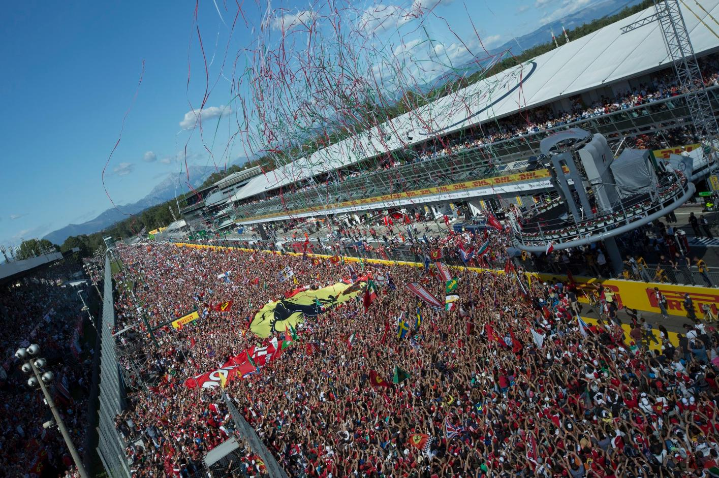 Volle bak na de Italiaanse Grand Prix in Monza (Foto: WikiCommons)