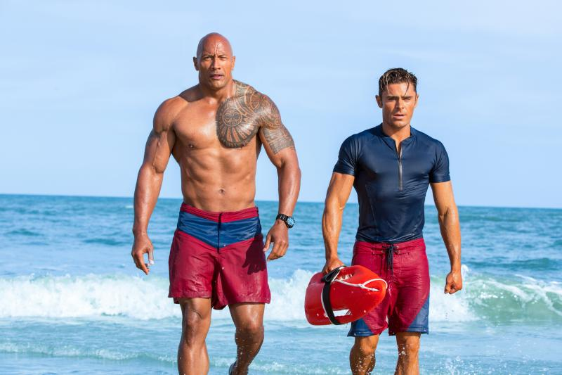 Baywatch: Dwayne Johnson en Zac Efron