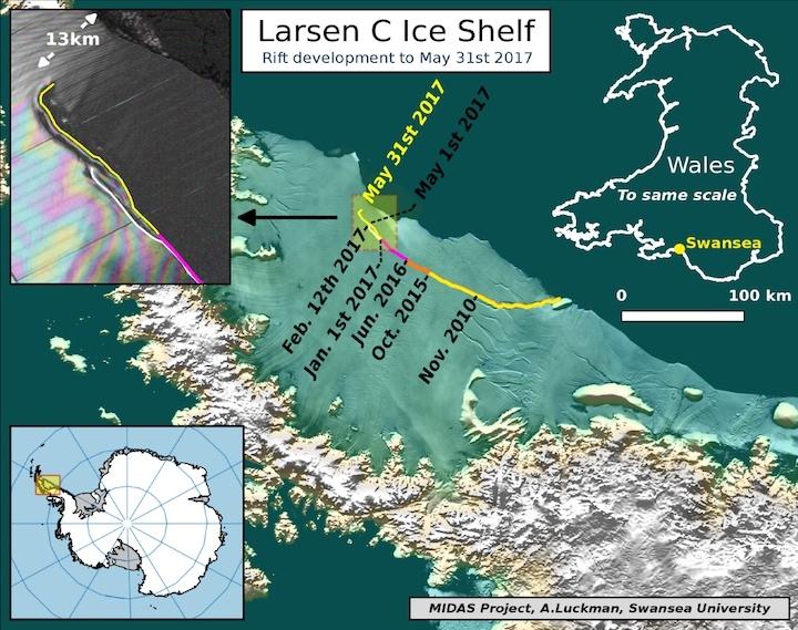 Afbreken Larsen C ijsplaat