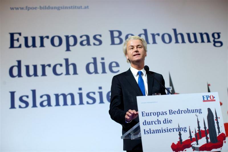 Justitie onderzoekt Weense speech Wilders