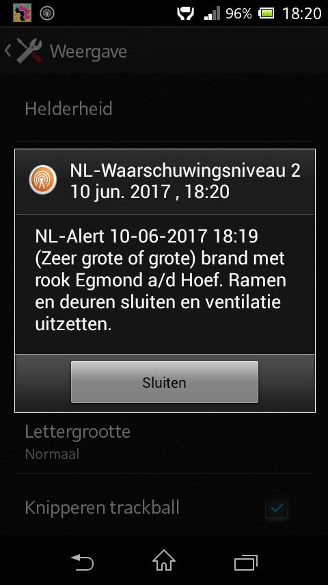 NL-Alert Egmond aan den Hoef
