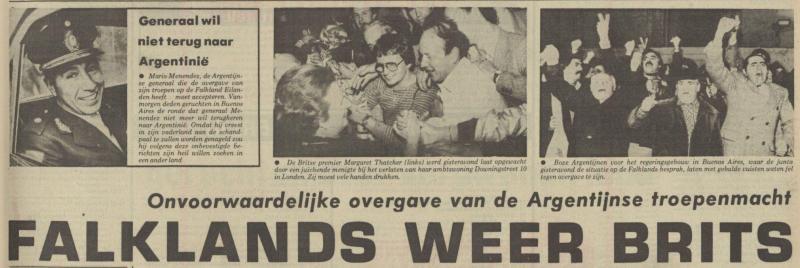 Uit het Nieuwsblad van het Noorden van 15 juni 1982