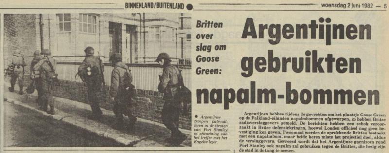 Uit het Nieuwsblad van het Noorden van 2 juni 1982
