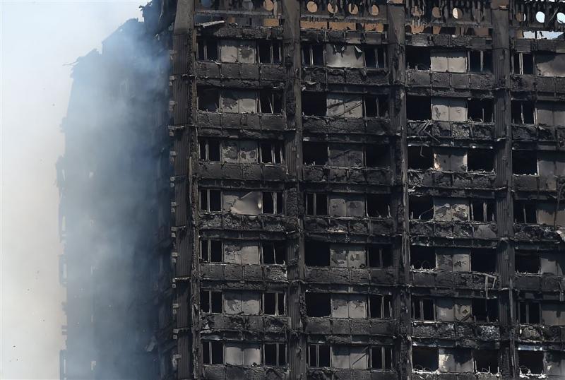 Grenfell Tower brandt niet meer