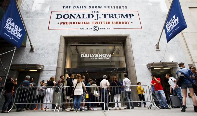 Tweets Trump in 'presidentiële bibliotheek'