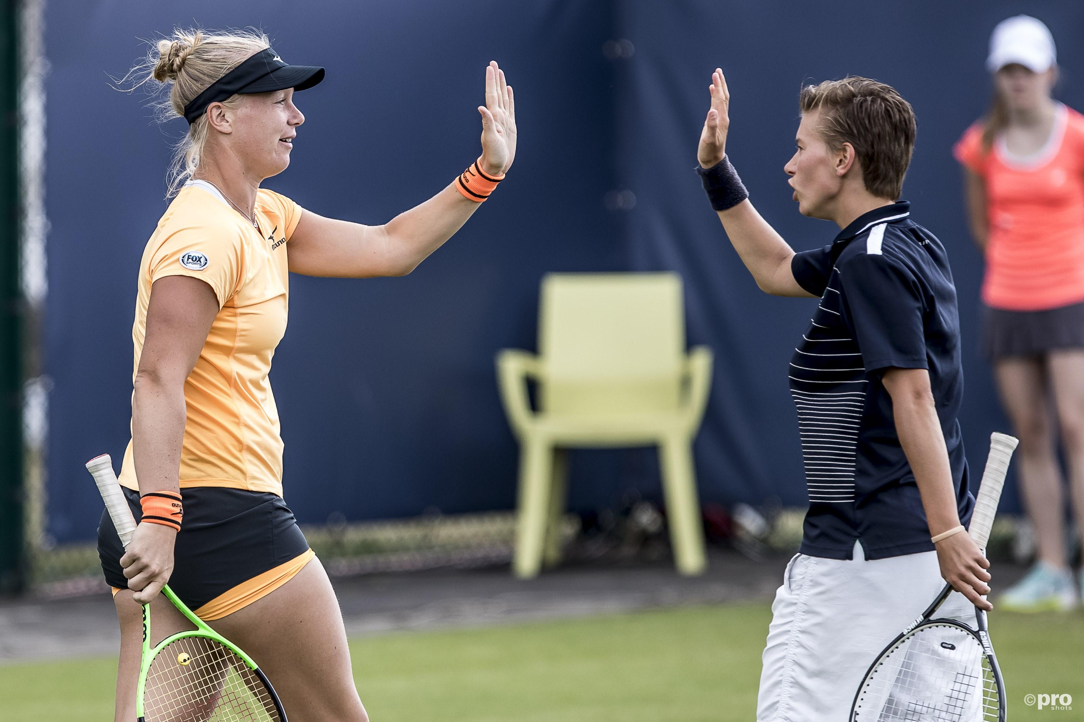 Bertens en Schuurs verliezen dubbelfinale in Rosmalen. (PRO SHOTS/Joep Leenen)