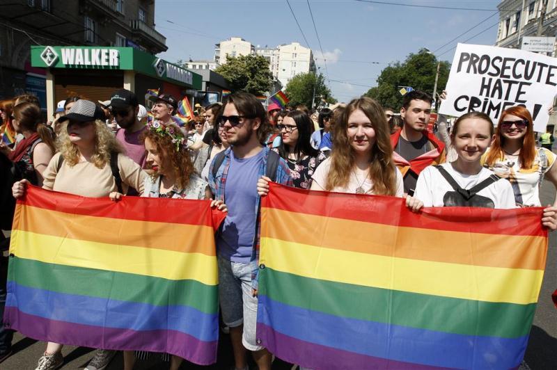 Gayparade Kiev verloopt zonder incidenten
