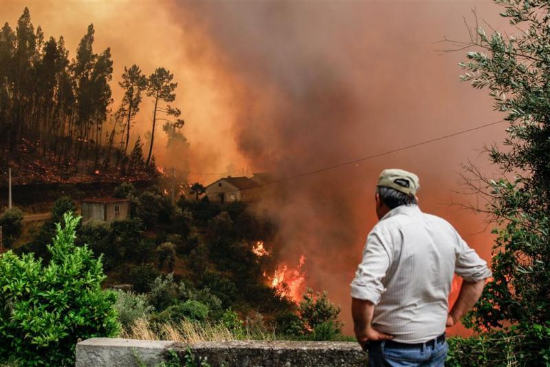 Duik in watertank redt 12 mensen bij bosbrand