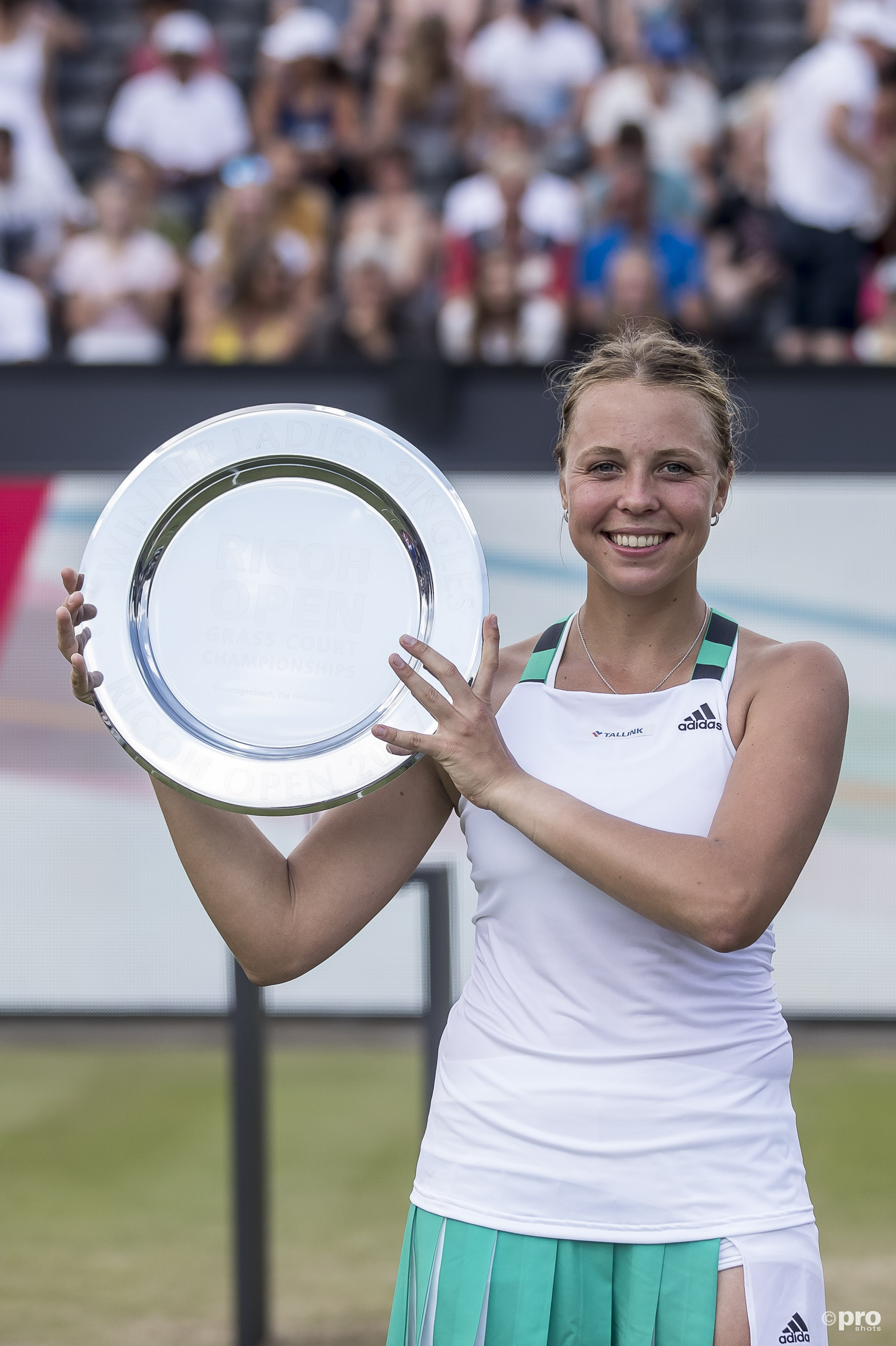 Kontaveit pakt eerste WTA-titel in Rosmalen. (PRO SHOTS/Joep Leenen)