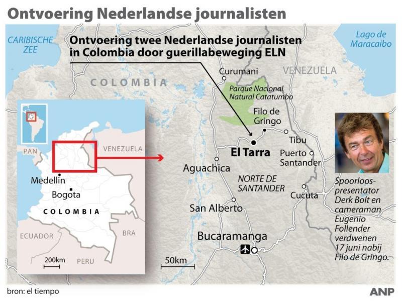 Colombia: journalisten ontvoerd in Versalles