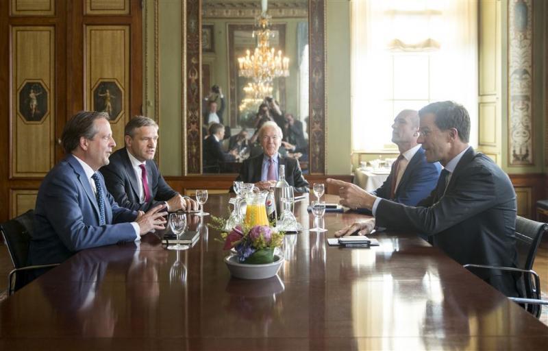 VVD, CDA, D66 en CU gaan onderhandelen