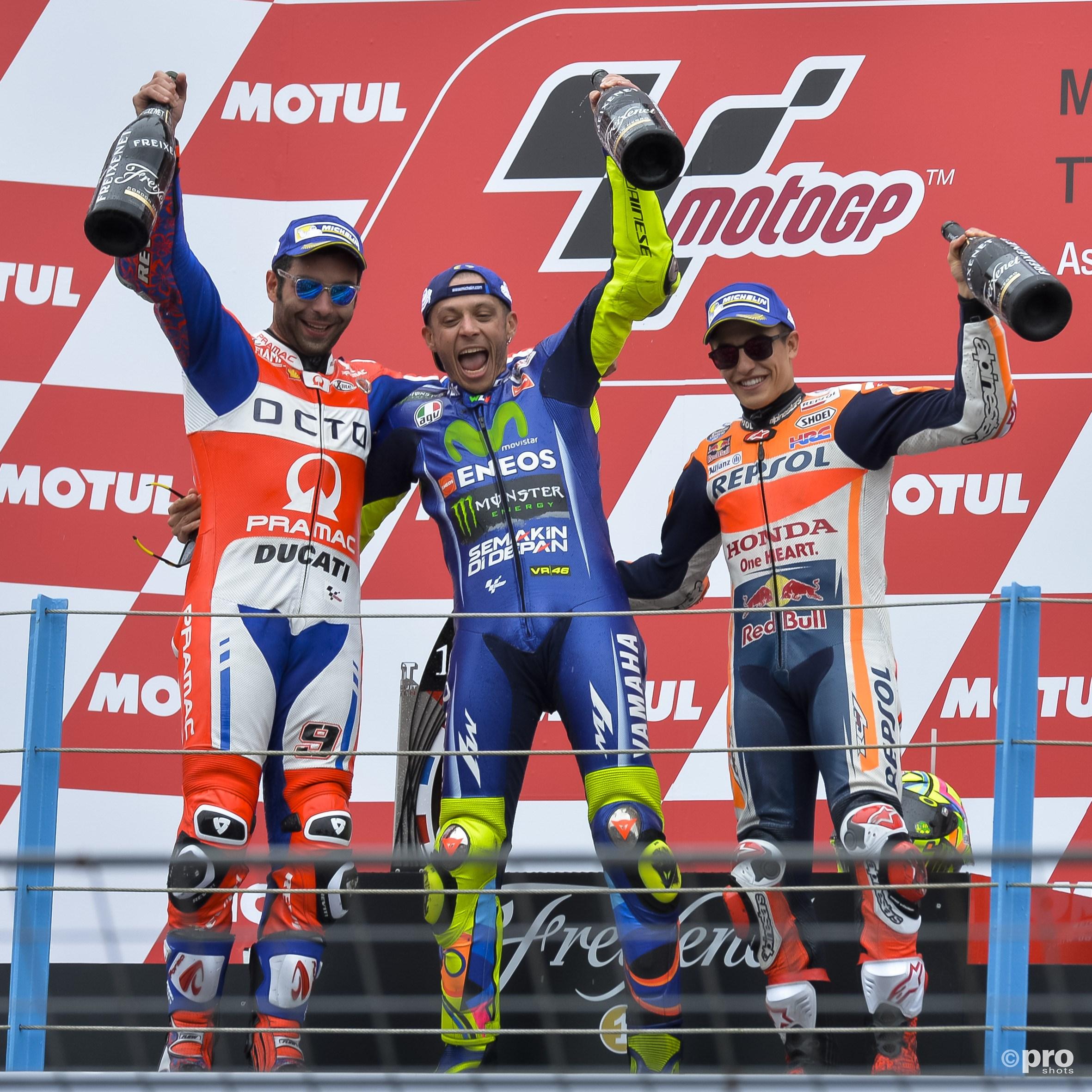 Podium Moto GP. (PRO SHOTS/Cor Lasker)
