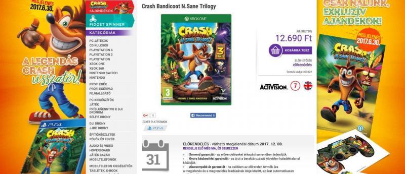 Crash op Xbox One