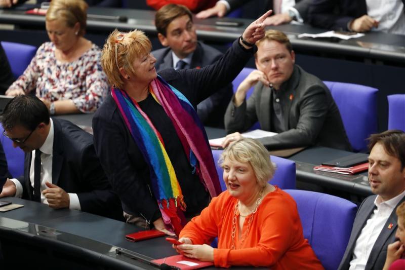 Duits parlement stemt in met homohuwelijk