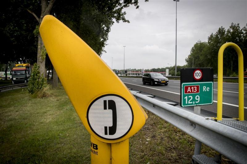 Gele praatpalen langs snelweg verleden tijd