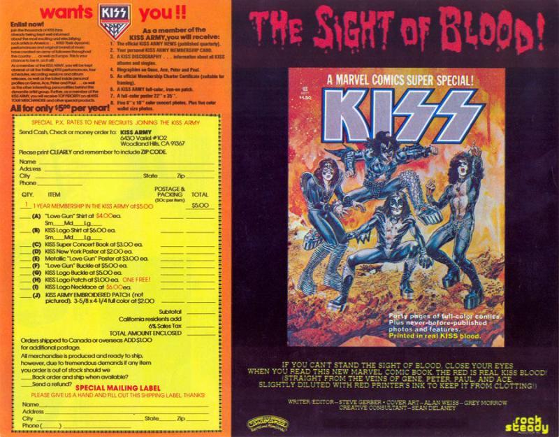 Kiss - Love Gun merchandise 2
