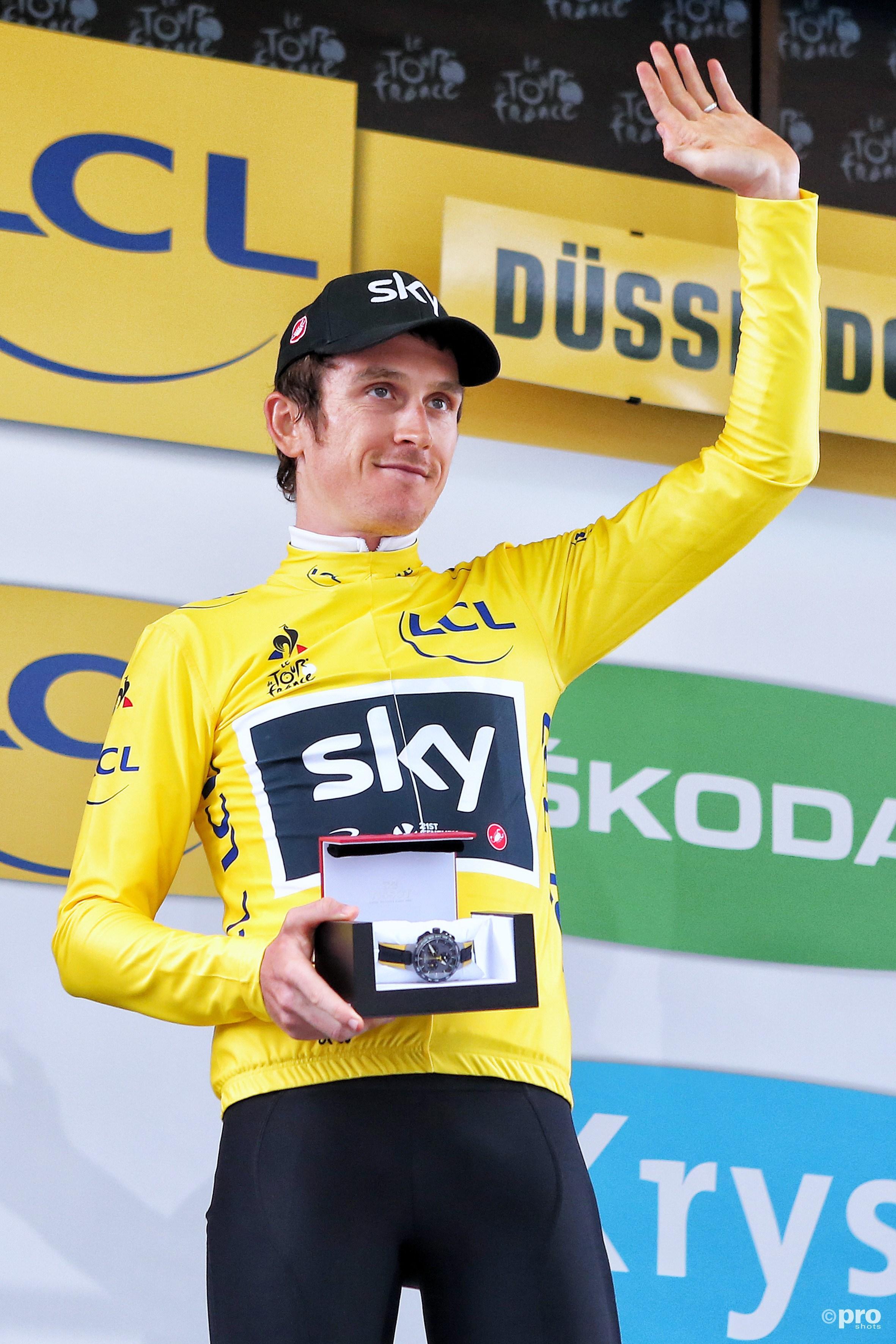 Thomas is de eerste leider in deze Tour. (PRO SHOTS/Henk Korzelius)