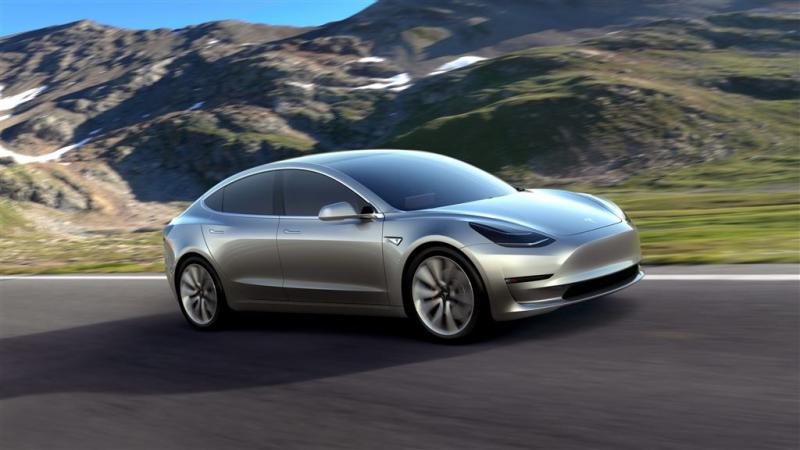 'Tesla Model 3 vrijdag van de band'