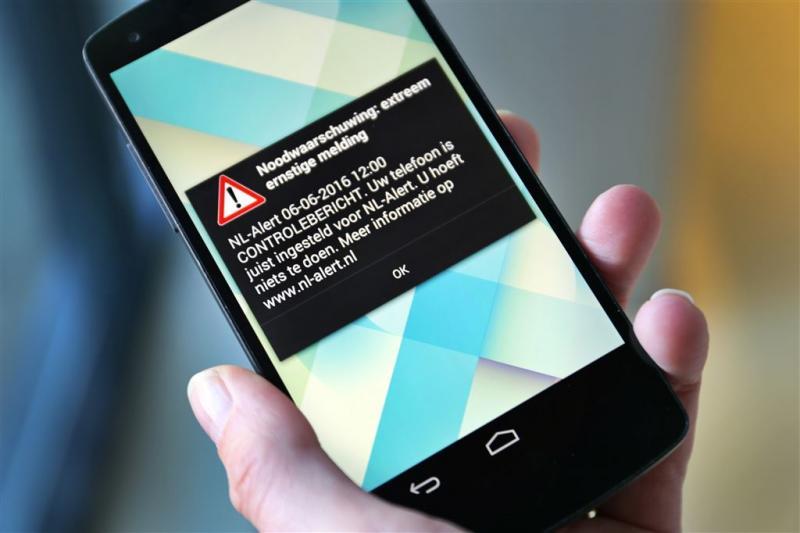 'Weinig of geen problemen bij test NL-Alert'