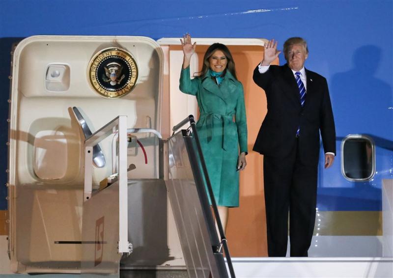 Trump aangekomen in Polen