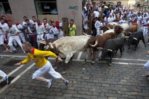 Stierenrennen in Pamplona weer van start (Foto: ANP)