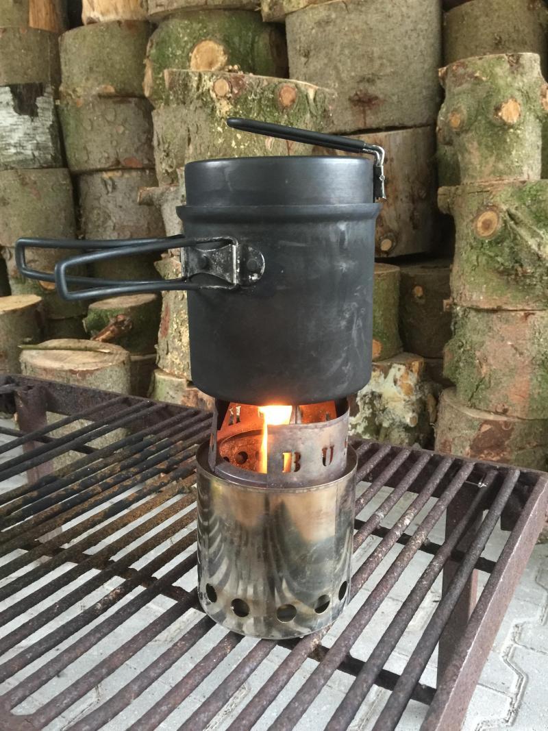 Sigme's voettocht naar Spanje - koffie zetten op een brandertje (Foto: sigme)