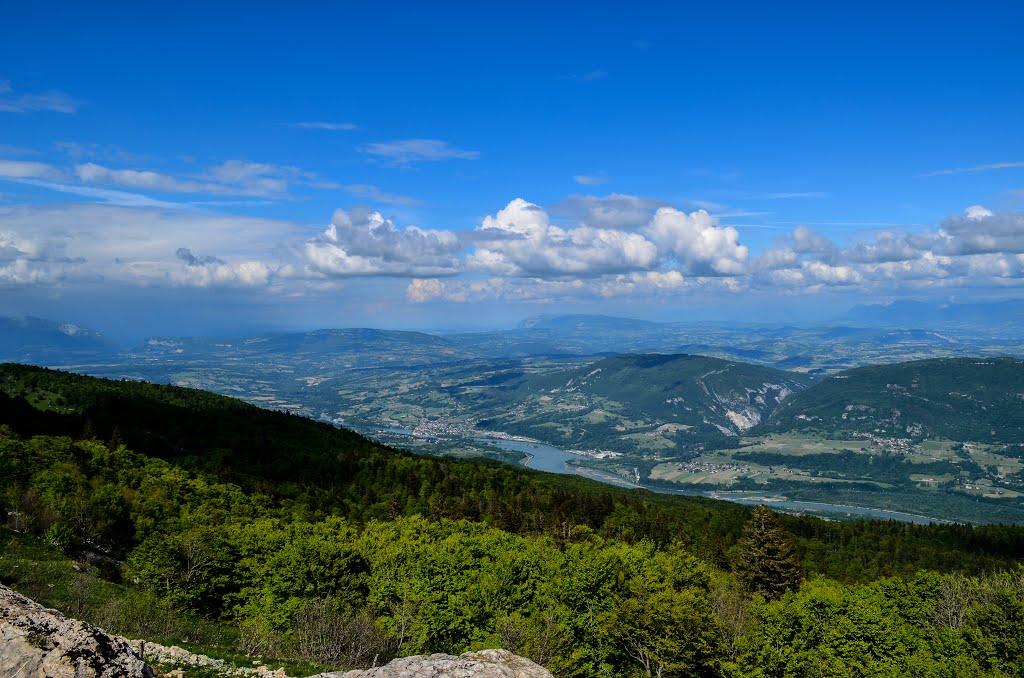 Uitstekend uitzicht vanaf de Grand Colombier (Foto: Panoramio)