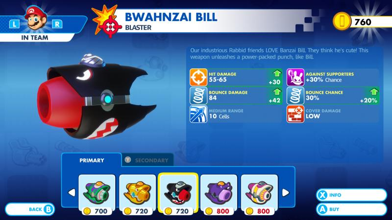Mario + Rabbids: Kingdom Battle - Weapon Menu (Foto: Ubisoft)