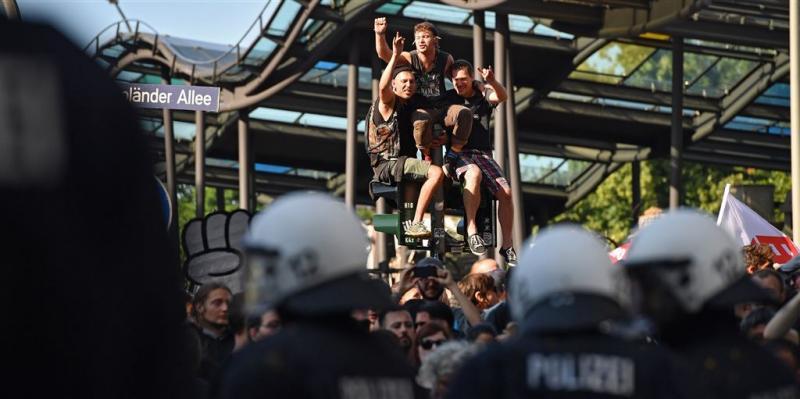 Weer ongeregeldheden in Hamburg