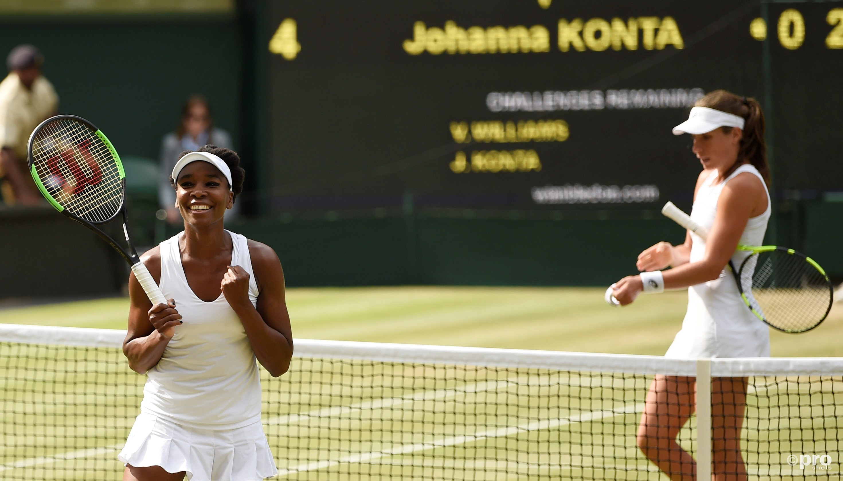 Williams viert de zege op Konta (Pro Shots/Action Images)