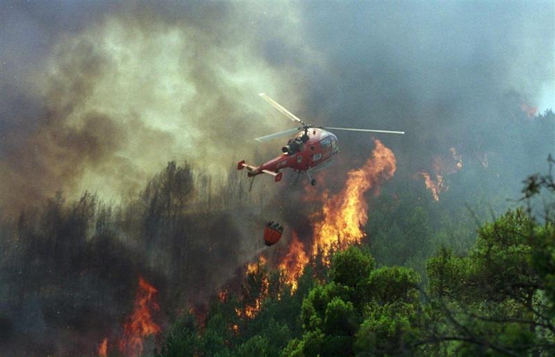 Bosbranden langs Adriatische kust Kroatië