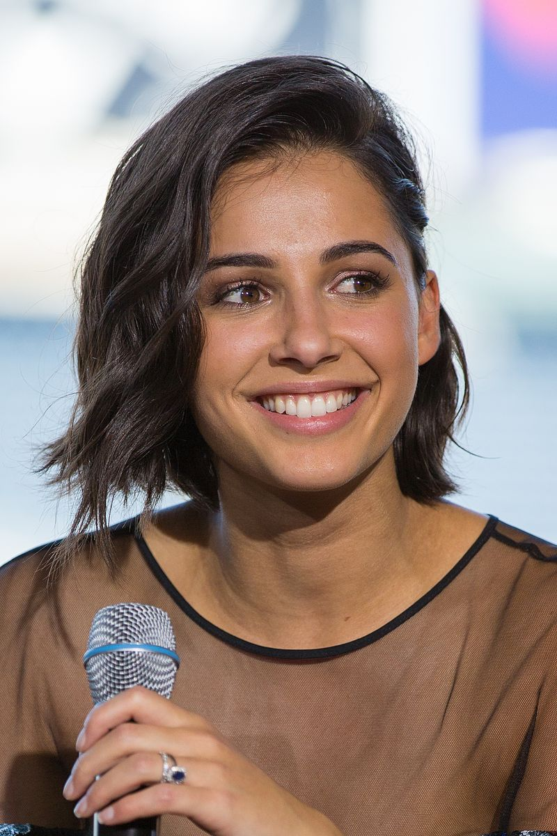 Naomi Scott at the Power Rangers movie discussion at Camp Conival offsite at Petco Park during San Diego Comic-Con 2016