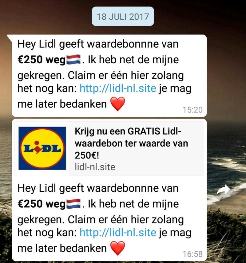 Lidl-phising op WhatsApp