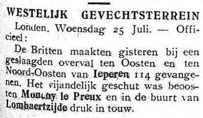 Uit het Vlaamsche Gazet van 27 juli 1917