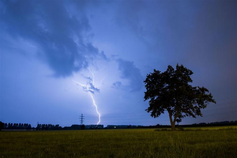 Gewonden door blikseminslag Franse camping