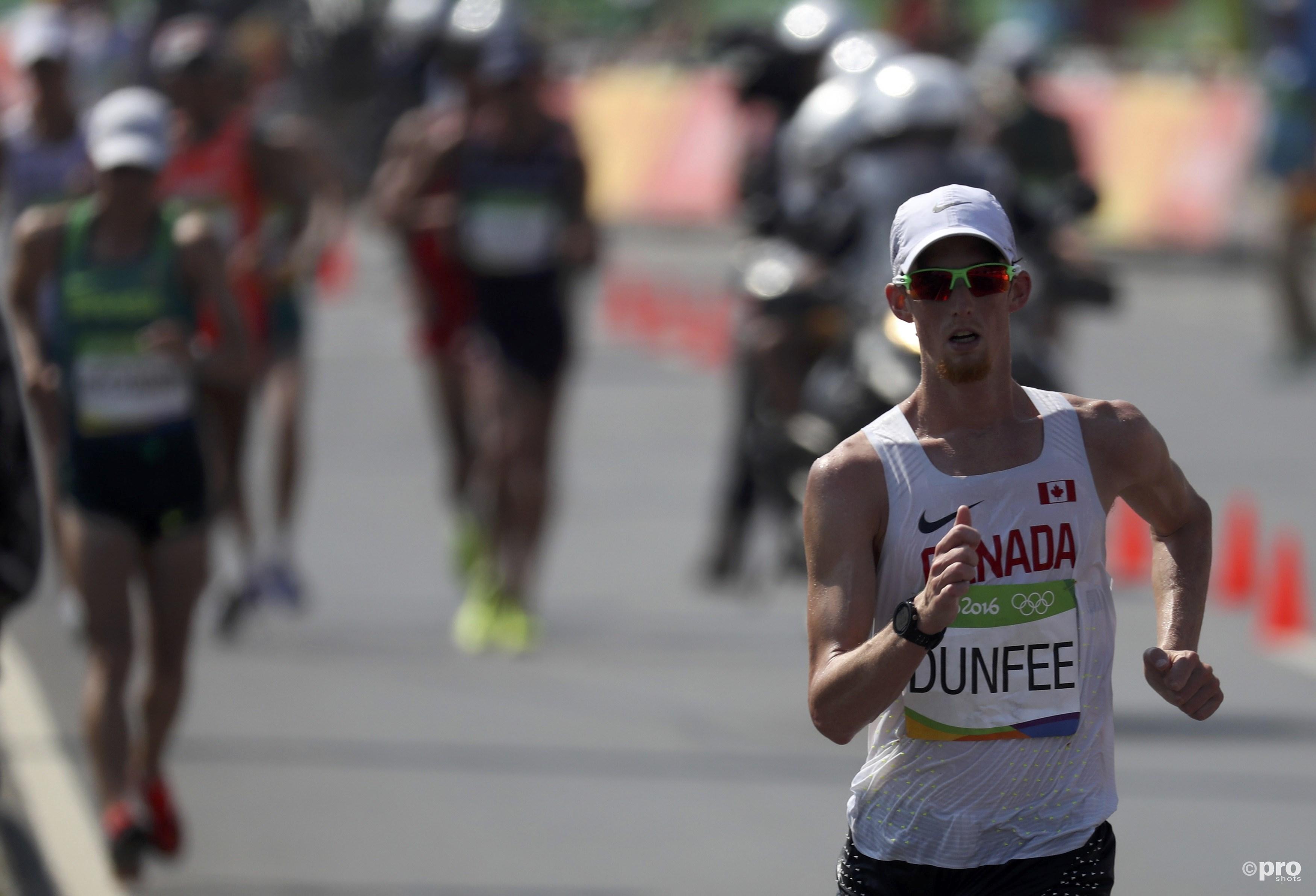 Evan Dunfee aan de leiding op de Olympische Spelen in Rio (Pro Shots/Action Images)