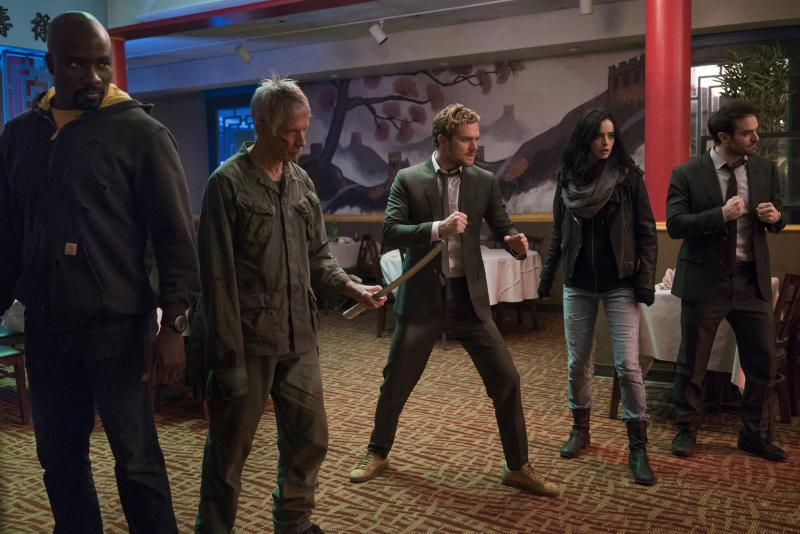 The Defenders: Mike Colter, Scott Glenn, Finn Jones, Krysten Ritter, Charlie Cox