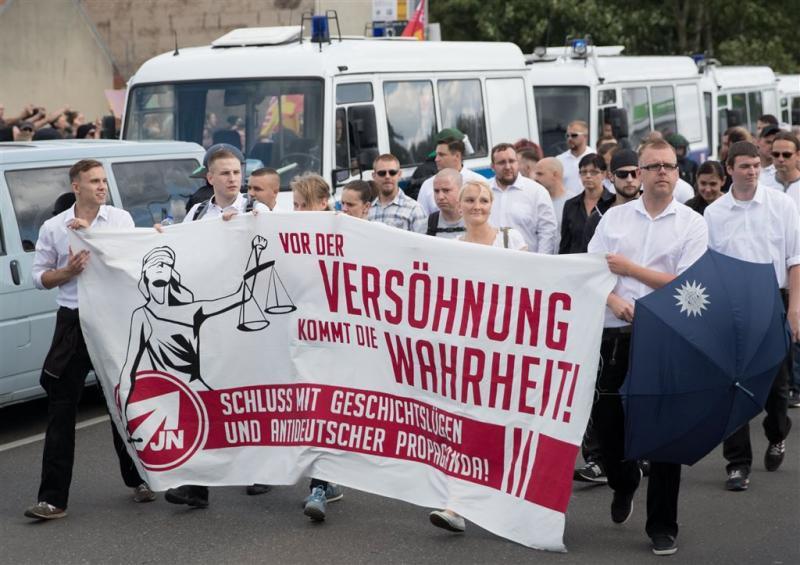 Demonstratie neonazi's Berlijn rustig verlopen
