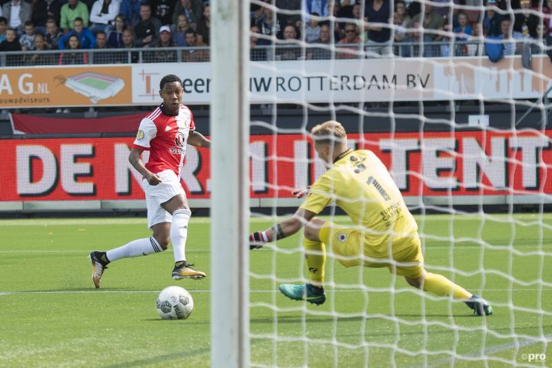Jean-Paul Boëtius maakt de enige treffer in de Rotterdamse derby (Foto: Pro Shots/Jasper Ruhe)