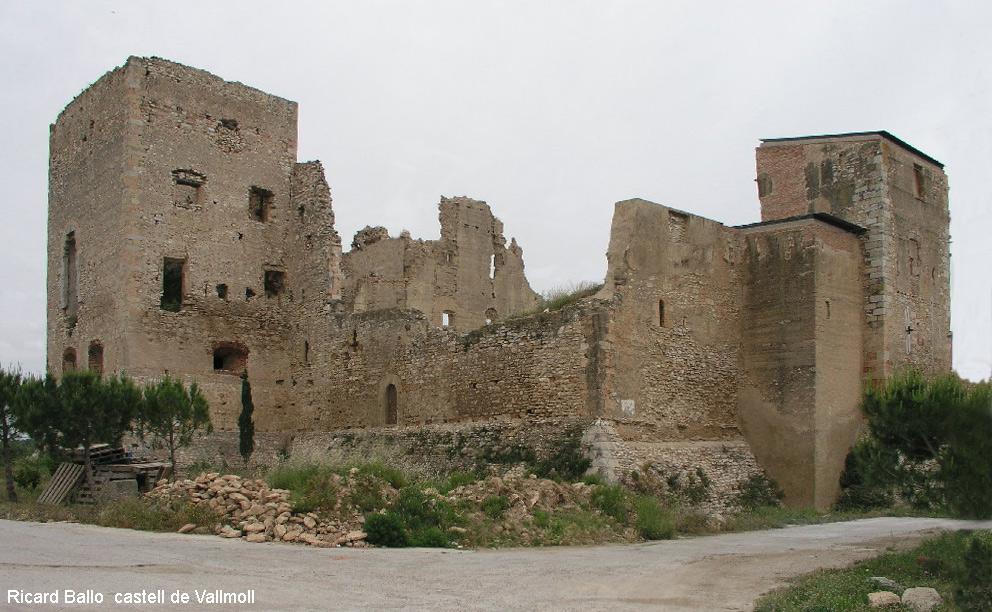 In Vallmoll stond ooit een mooi kasteel (Foto: Panoramio)