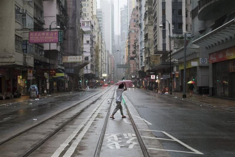 Hongkong vol getroffen door tyfoon